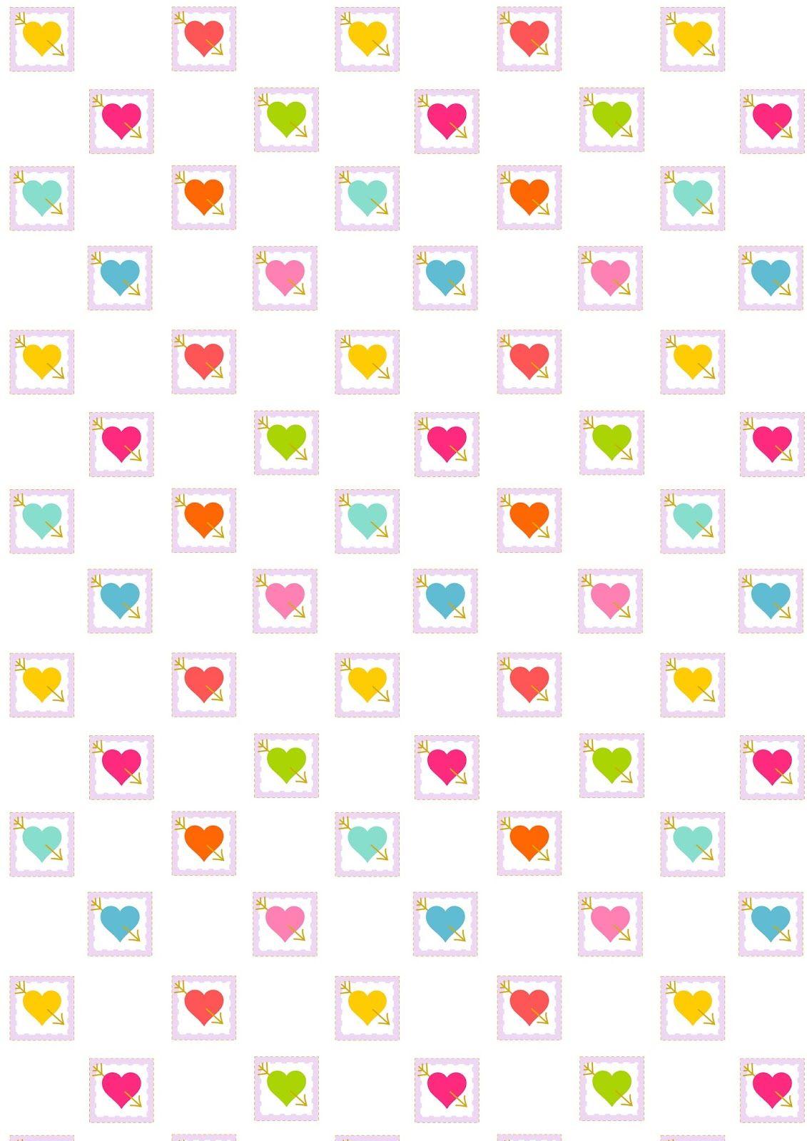 Free Digital Heart Scrapbooking Paper Ausdruckbares Geschenkpapier Freebie Free Printable Planner Stickers Scrapbook Paper Printable Crafts