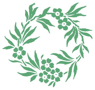 Stock Images - Pretty Floral Wreaths - Frames - The Graphics Fairy