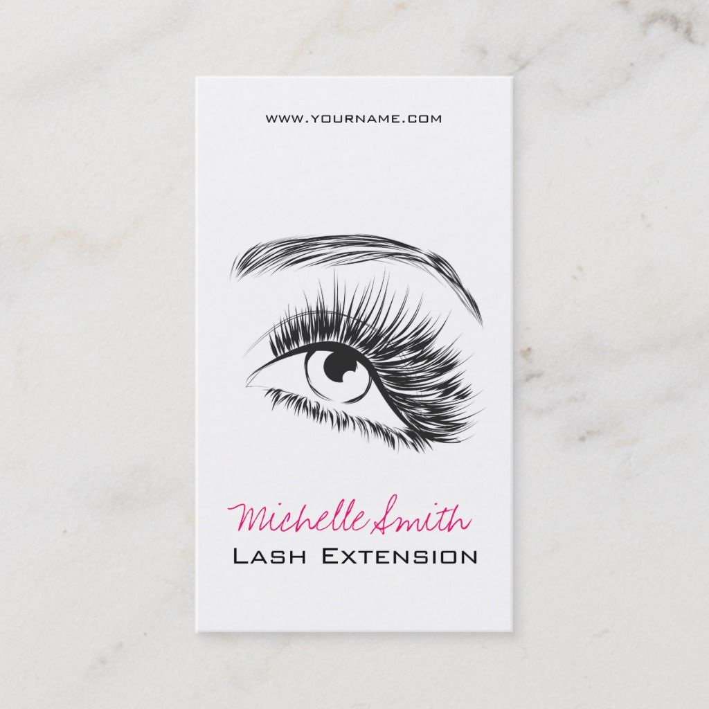 Eye Sketch Mascara Lash Extension Business Card | Zazzle.com #eyelashextensions