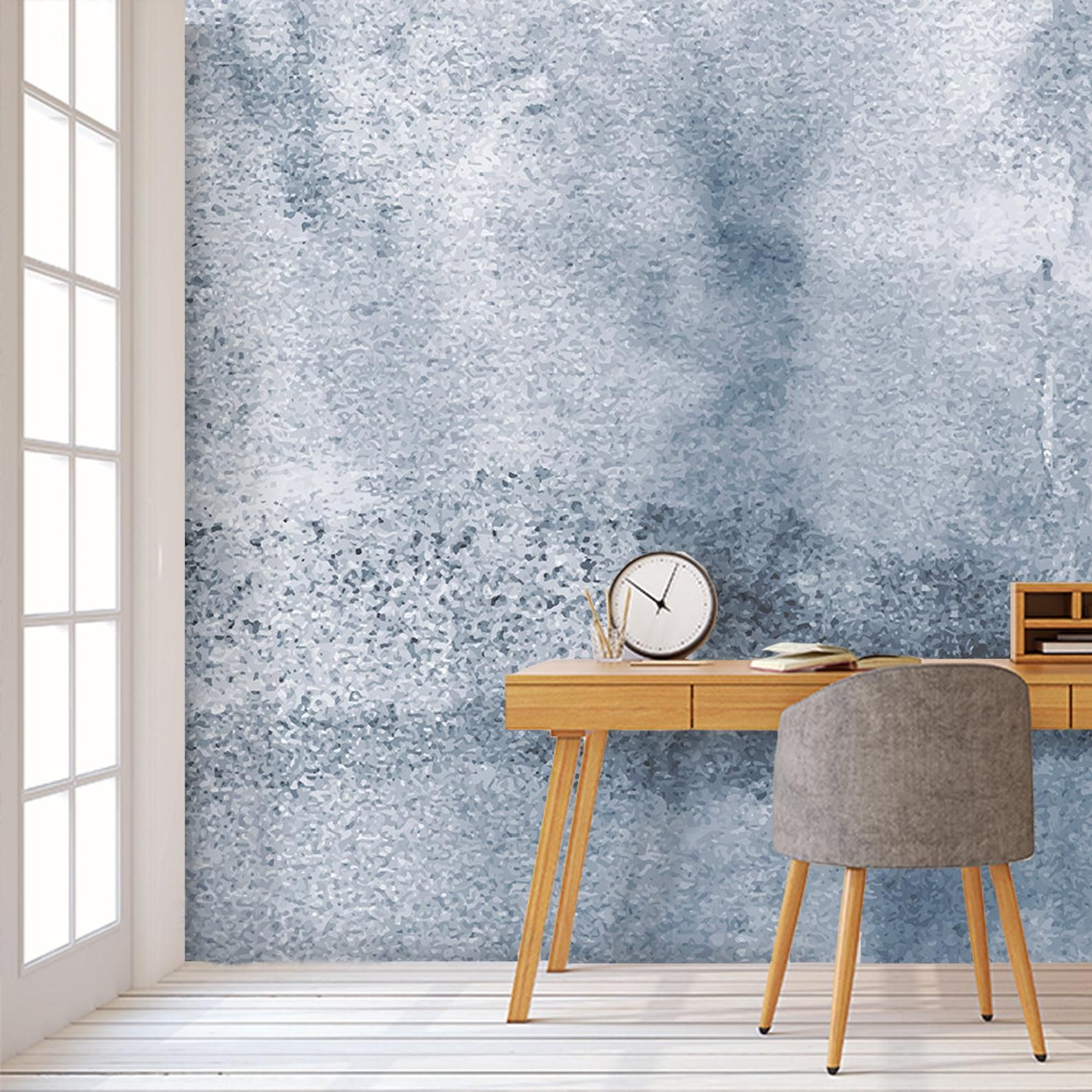 Paint Stains Watercolor Wallpaper. Navy Blue Wallpaper