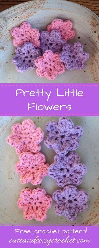 Pretty Little Flower | Small flowers, Free crochet and Crochet