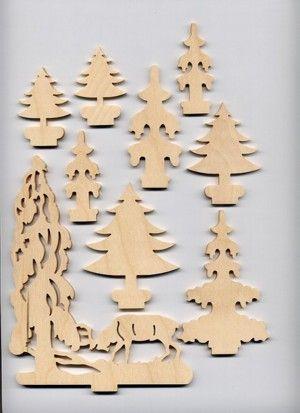 Baumset Baume 3 Weihnachtsbasteln Basteln Weihnachten Weihnachten Holz