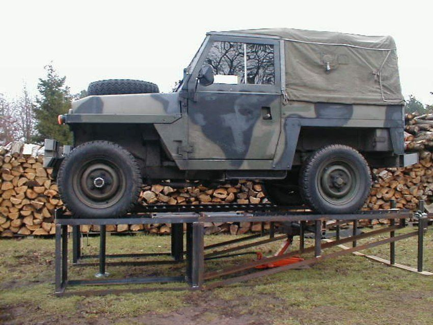 Car ramp plans uk military landrover automotive tools Car lift plans