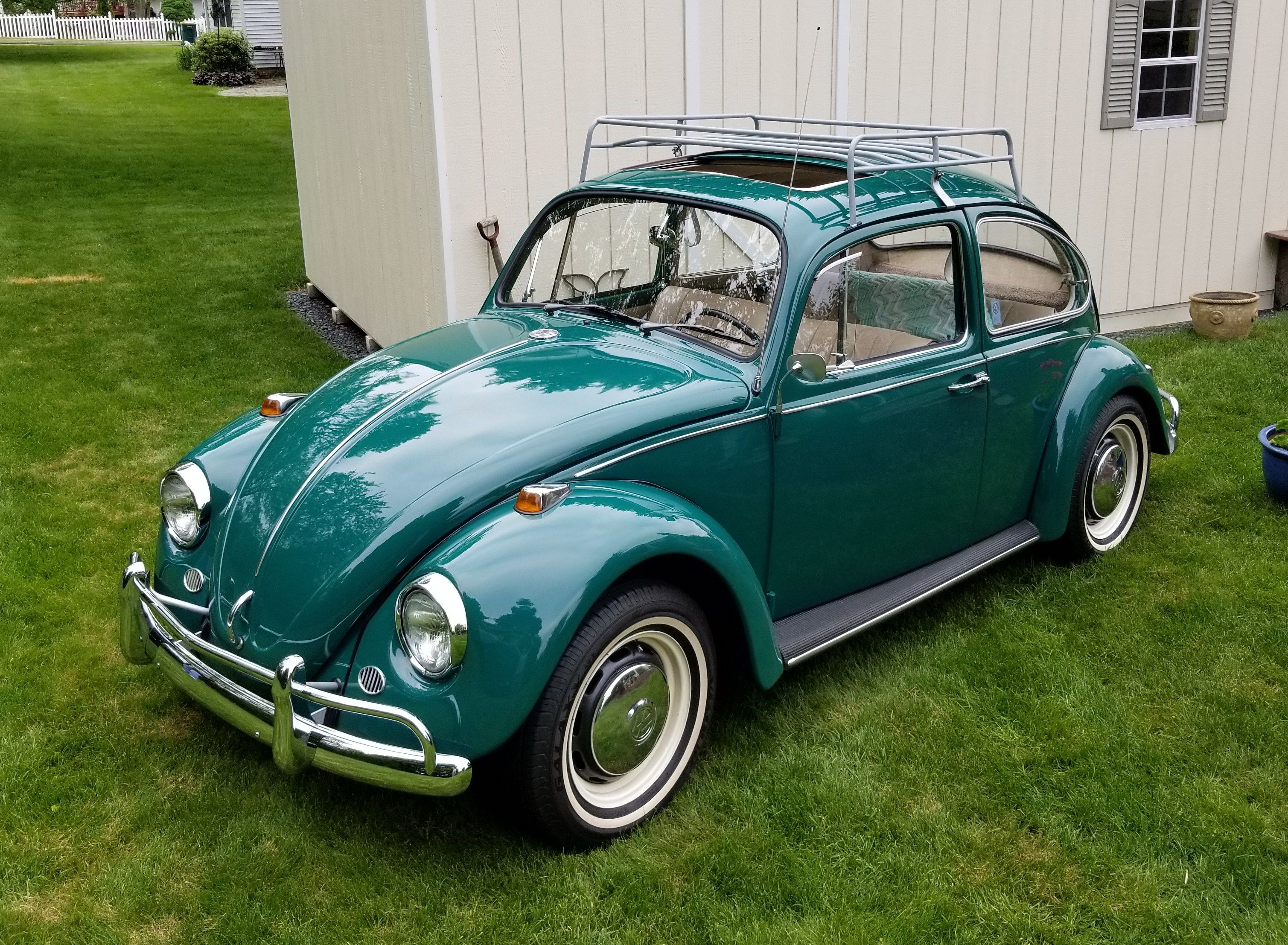 Lela Strysky's L518 Java Green '67 Beetle 1967 VW BEETLE