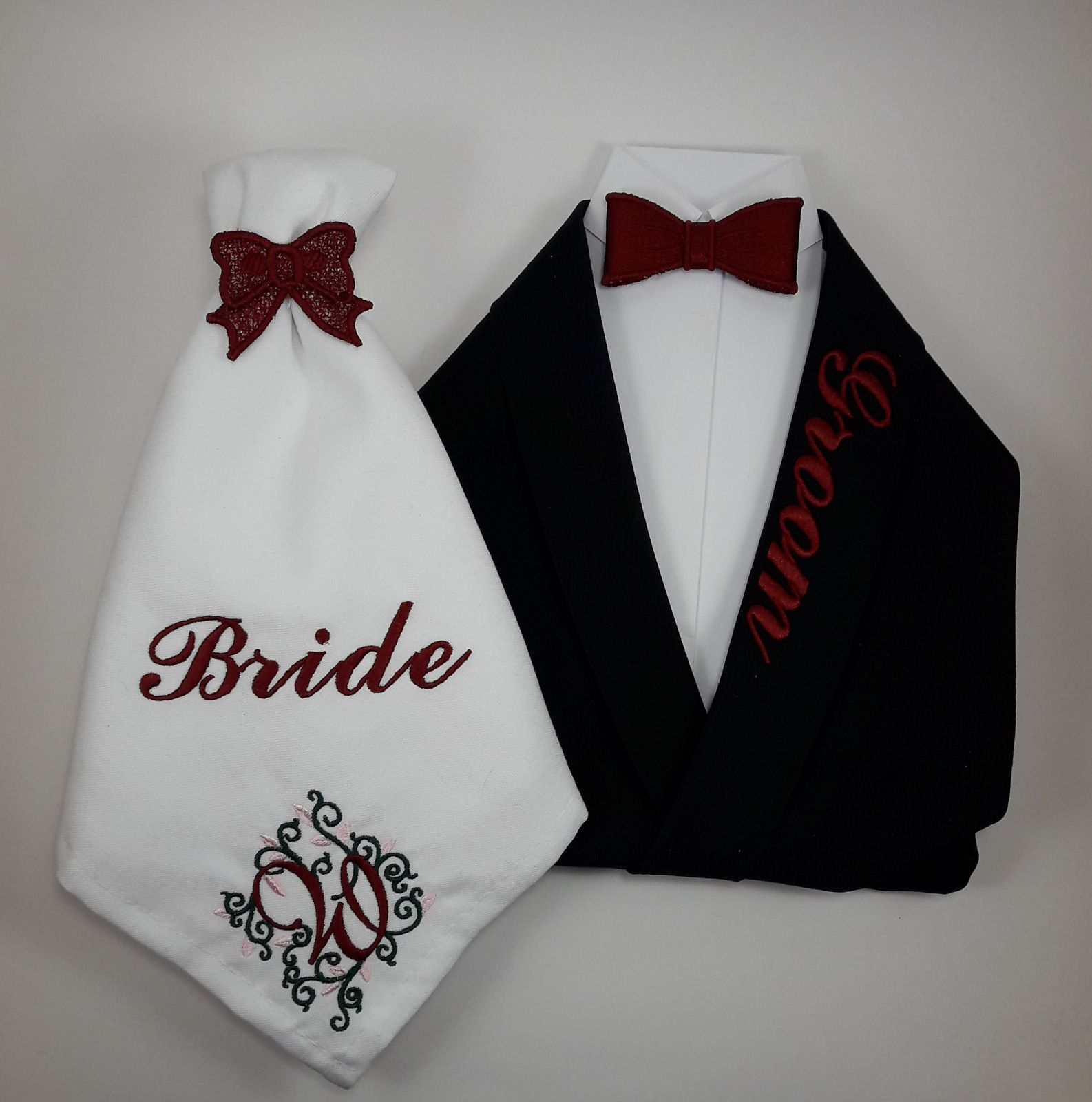 Wedding Gift Table Ideas: Wedding Bride And Groom Custom Napkins, Reception Table