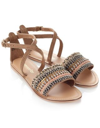 Marrakesh Braid Sandals | Brown | Accessorize