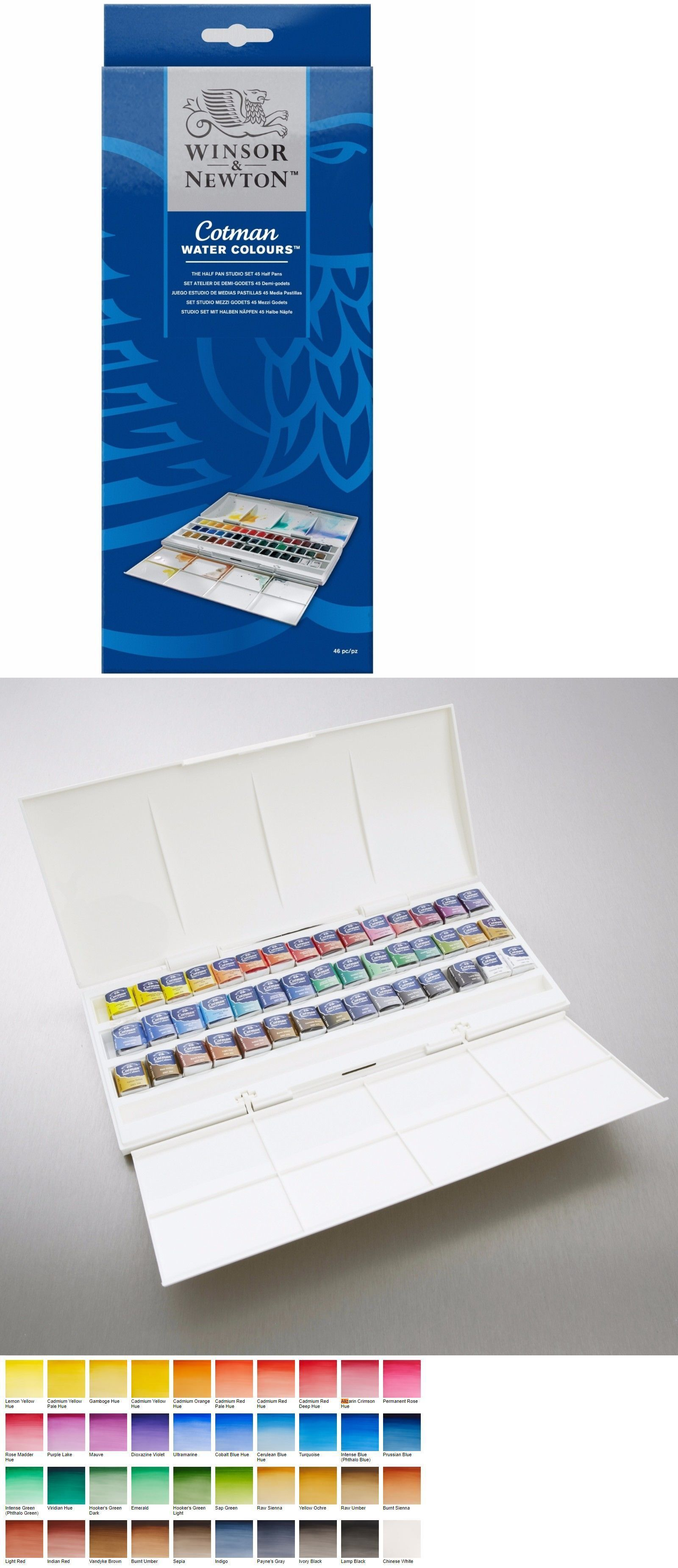 Watercolor Paint 28113 Winsor And Newton Cotman Water Color Half