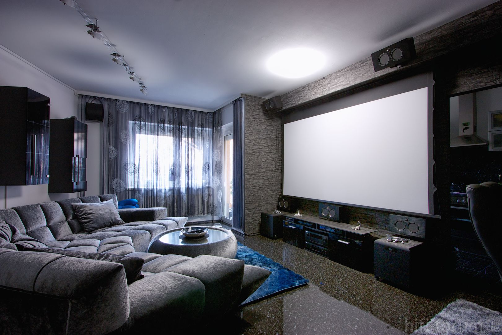 My Hometheater aka. Living room | Home theater seating ...