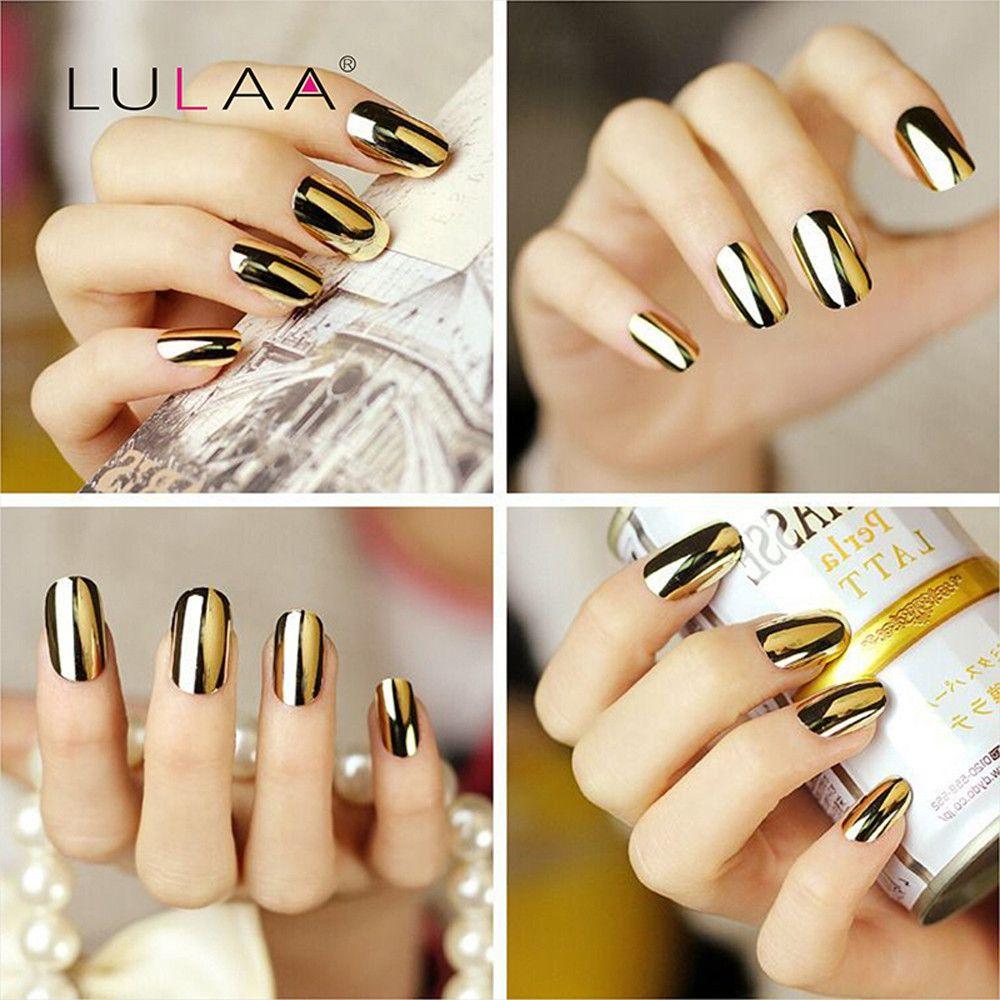 Brand LULAA 1PCS Mirror Effect Fashion Metal Nail Polish Multi color ...