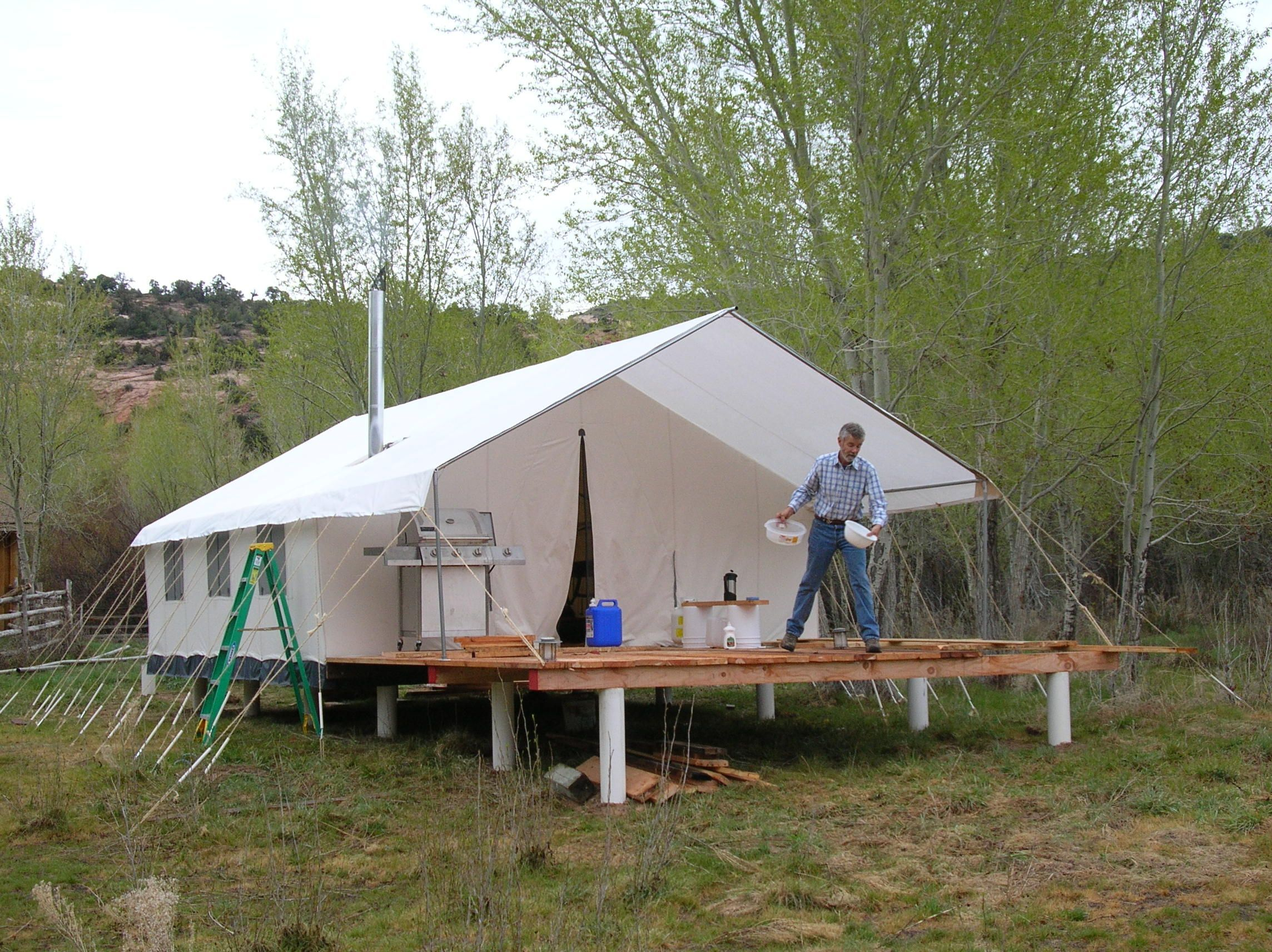 A Lot Of Glamping Tents Are Mounted To Decks Glampingisrad Tent