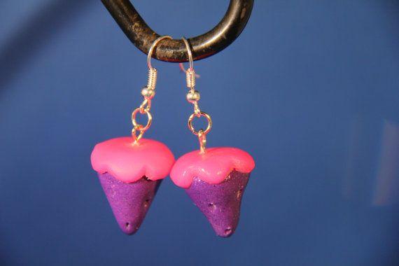 Handmade Polymer Clay Purple Strawberry dangle by PurpleCatShop, €6.00