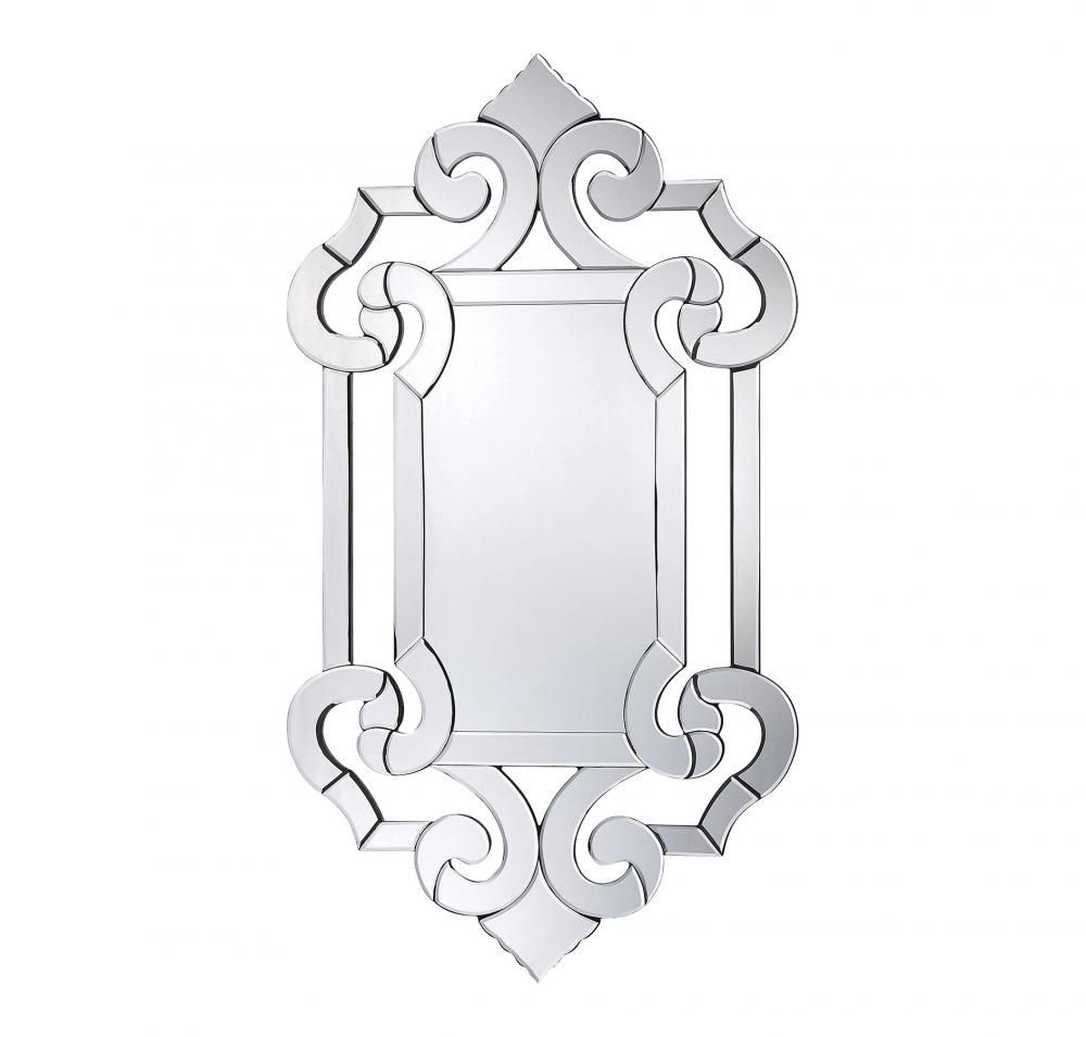 Marianne Crystal Glass Mirror : 4-1201 | Brechers Lighting