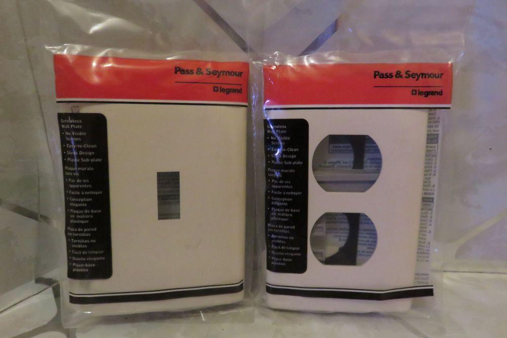 Screwless Decorator Wallplate Switch Cover & Duplex Outlet Pass ...