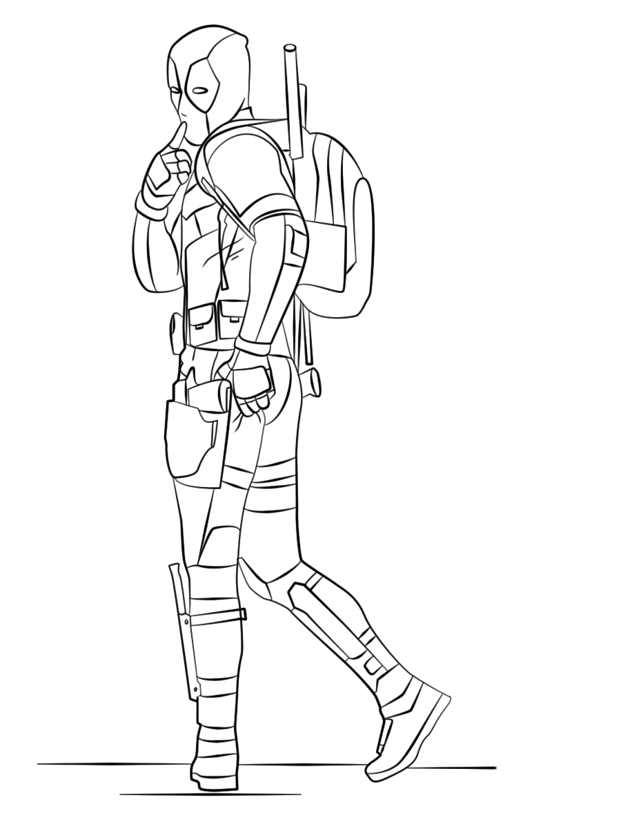 Deadpool 2 Coloring Pages To Print Coloring Pages Coloring Pages To Print Grownup Coloring