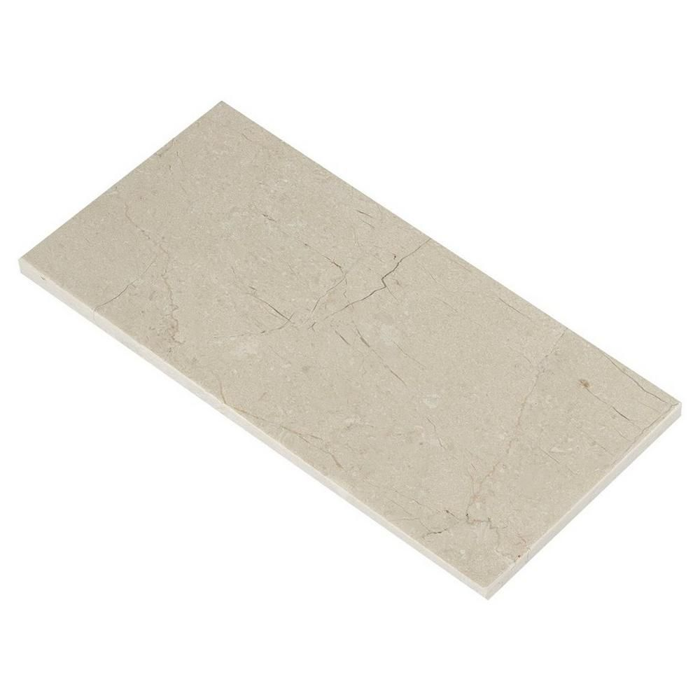 Stone Wall Accent Crema Marfil Floor: Crema Marfil Honed Marble Tile