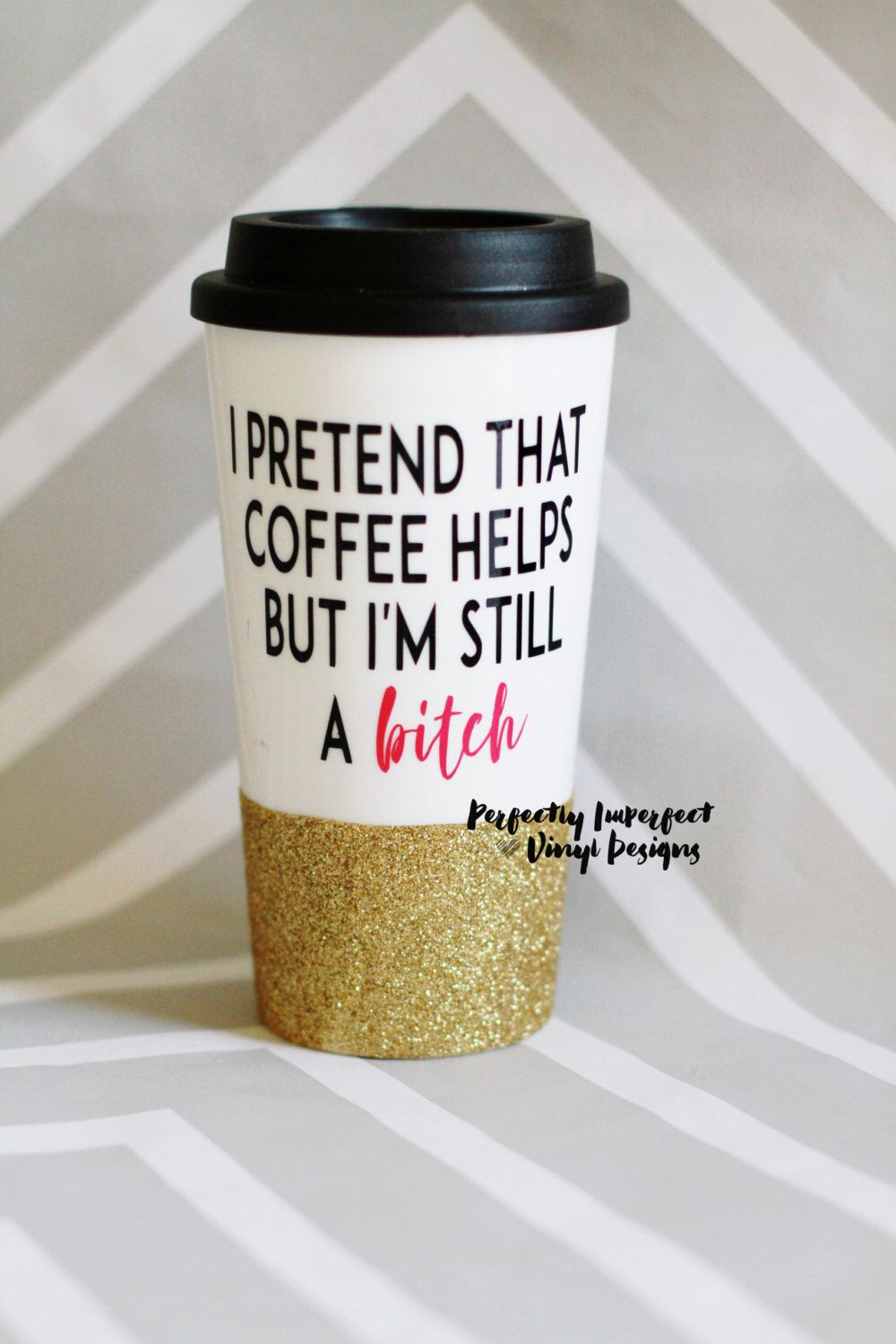 Glitter Dipped Travel Coffee Mug Glitter Coffee Mug Personalized