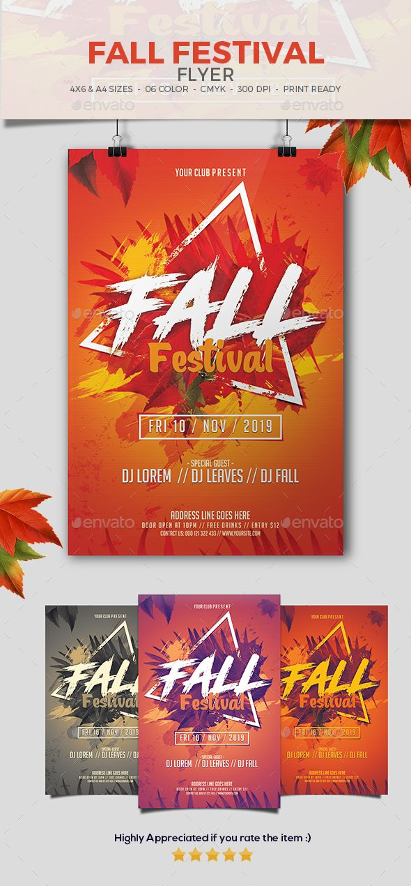 Fall Festival Flyer Flyer template, Template and Event flyers - fall festival flyer ideas