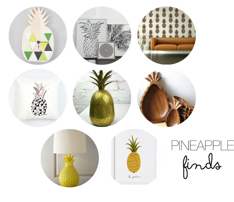 Pineapple Finds via Hello Lify for your home decor ... Feeling Fruity? Pineapples are a score ! ;D