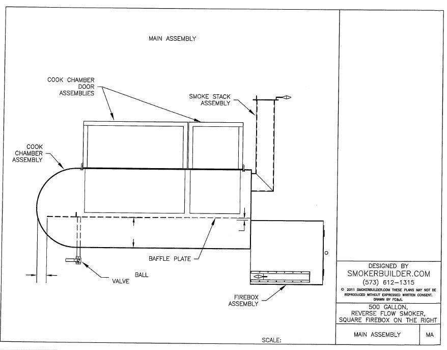 102 X 38 Reverse Flow Smoker 2 Doors Fire Box Right Bbq Pit