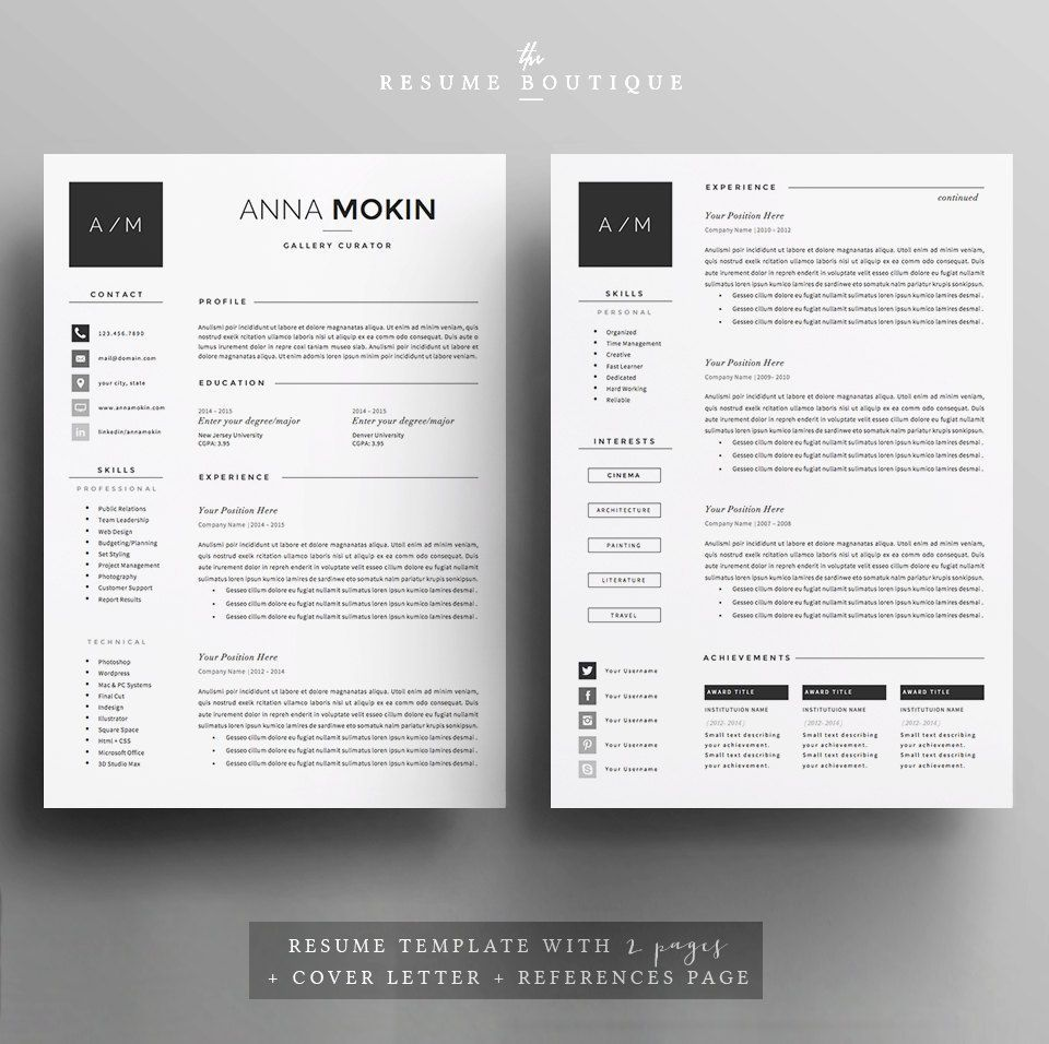 Promo Code 2 Resumes For 25 Usd Use Code Therxb Welcome To The Resume Boutique We Create Templates That Help Y Cv Template Resume Template Lettering