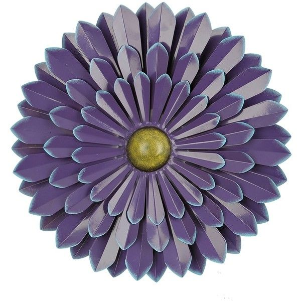 Purple Flower Metal Wall Plaque 20 In 20 Liked On Polyvore