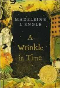 "HEPL Staff Review of  A Wrinkle In Time. ""A Wrinkle in Time is an intriguing story about a high school girl named Meg Murry. When Meg discovers that her father (a talented scientist who had been experimenting with a mysterious project called a tesseract) has strangely disappeared she and her friend Calvin O'Keefe, along with her gifted younger brother Charles Wallace, embark upon a riveting adventure which takes them through time and space to another world."""