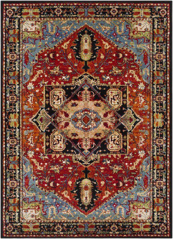 Ridgecrest Oriental Dark Red Black Area Rug Rugs On Carpet Area Rugs Rugs
