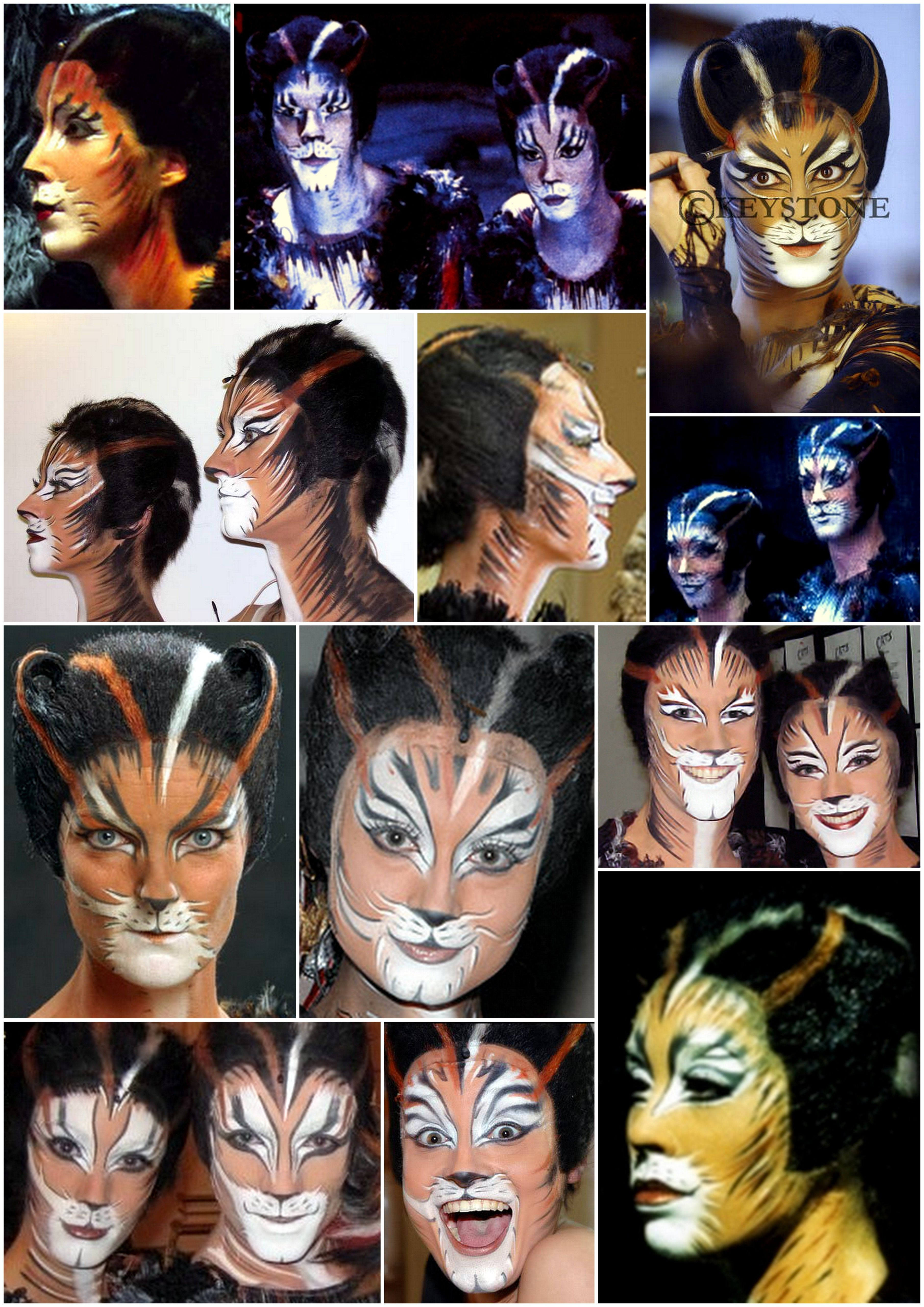Coricopat and Tantomile makeup references Jellicle cats