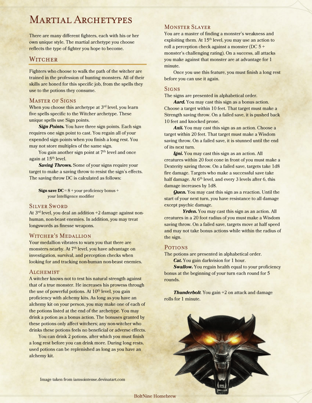 DnD 5e Homebrew — Class pack Part 1 by AshenGT / BoltNine Homebrew