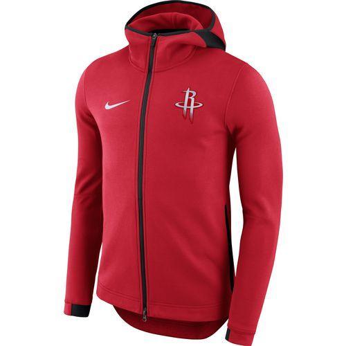 Nike Men s Houston Rockets Showtime Full Zip Hooded Jacket (Red ... 2dff84f59