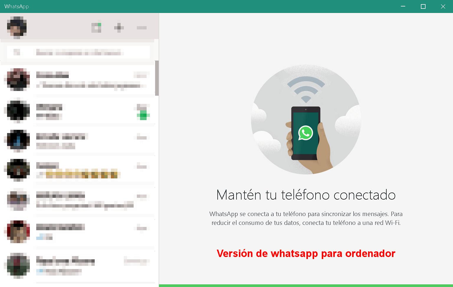 Versión de Whatsapp para ordenador