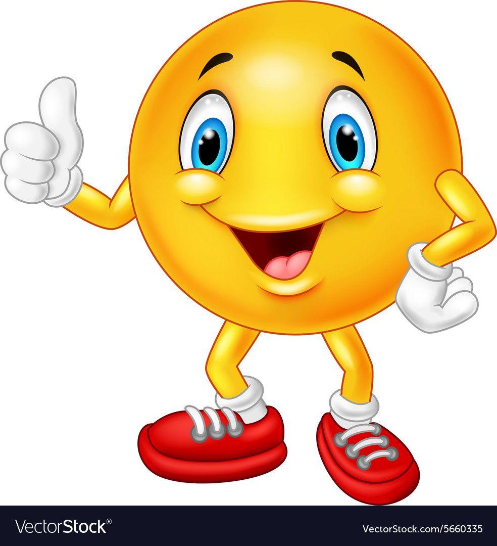 Cartoon Emoticon Giving Thumb Up Royalty Free Vector Image Emoticon Funny Emoticons Emoji Images