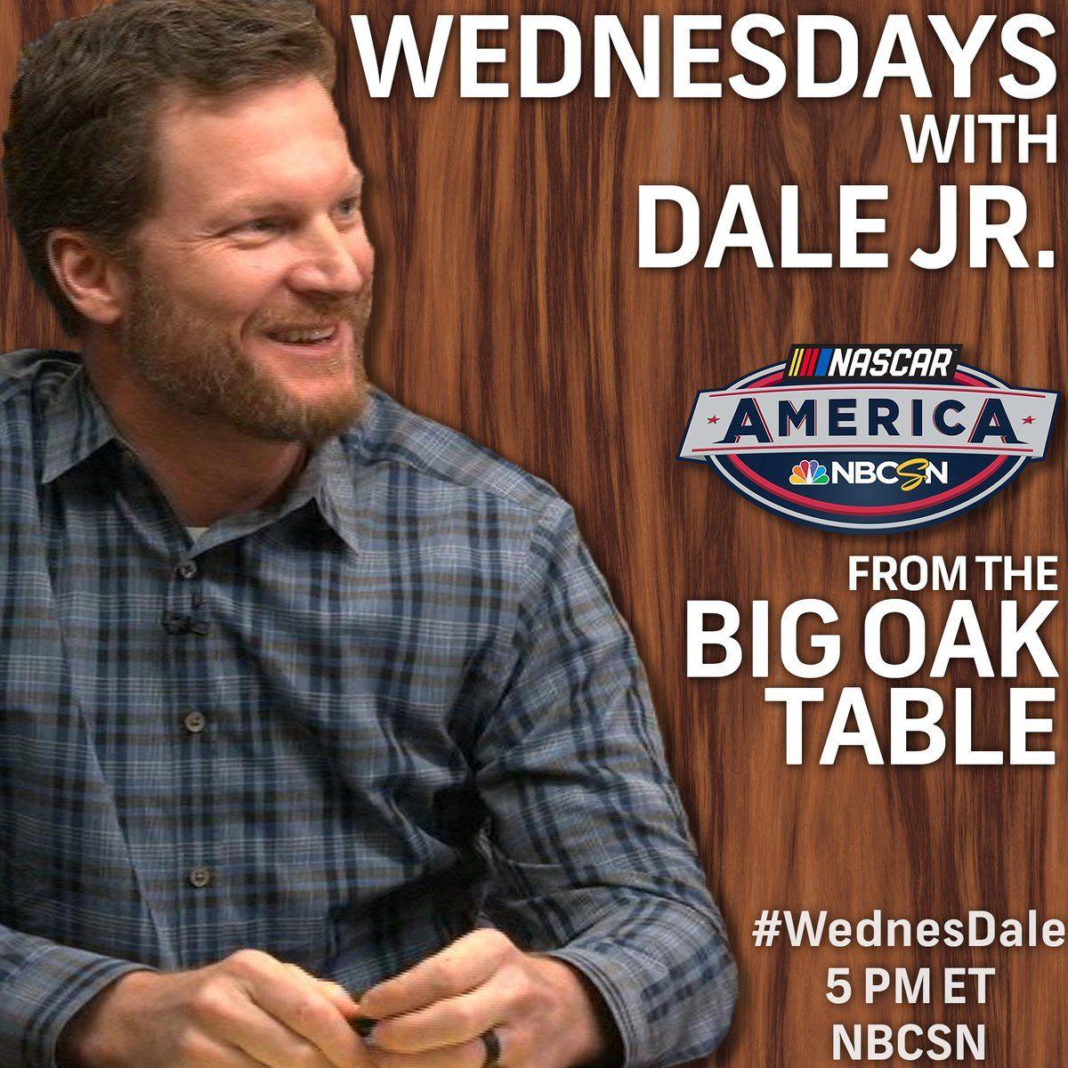 NASCAR on NBC on Nascar, Jr motorsports, Dale jr