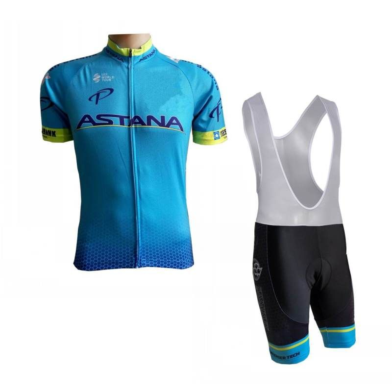 95ace78d2 2018 pro team astana mens summer bike cloth light-weight MTB cycling jersey  kits Ropa Ciclismo Bicycle maillot jersey gel pad