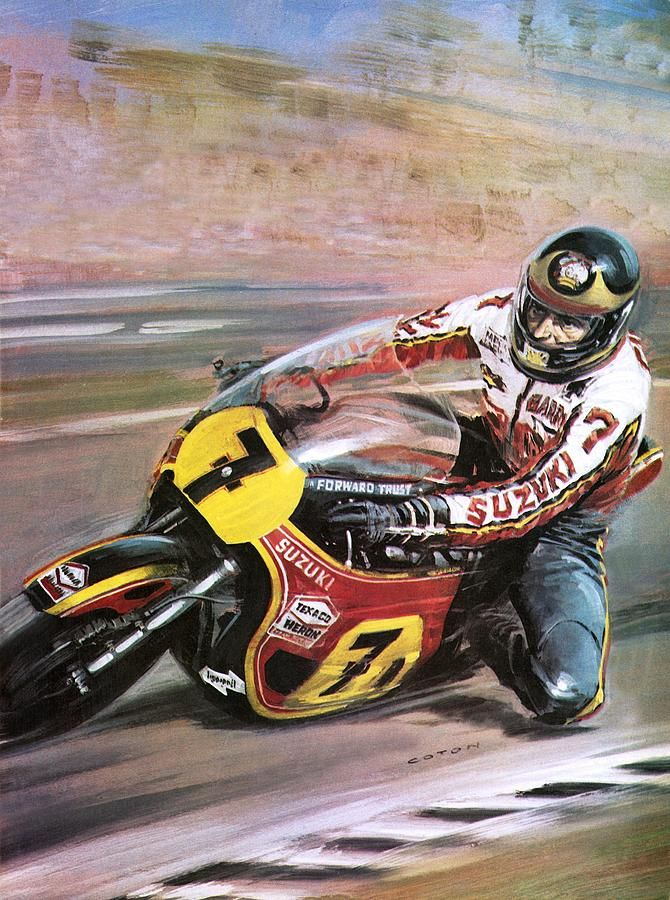 Motorcycle Racing With Images Motorcycle Artwork Racing Art