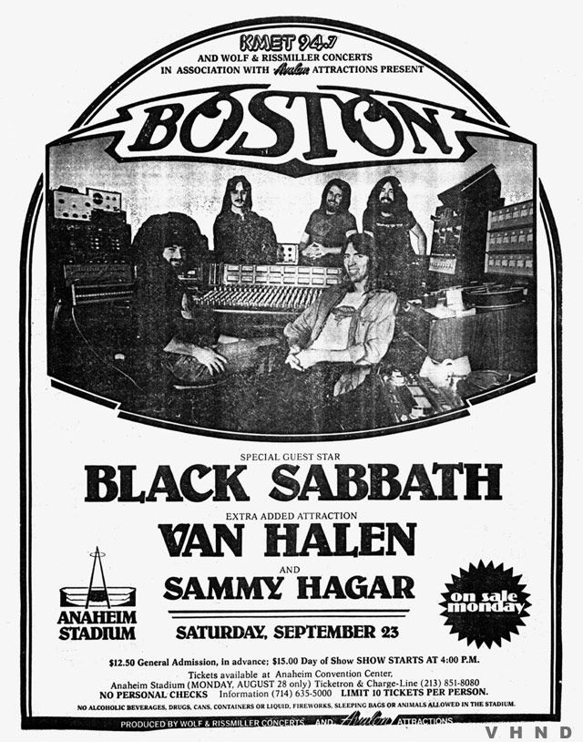 Anaheim Concert Ad Concert Posters Music Concert Posters Van Halen
