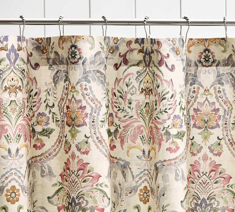 Ivana Print Shower Curtain Printed Shower Curtain Cotton Shower Curtain Vinyl Shower Curtains