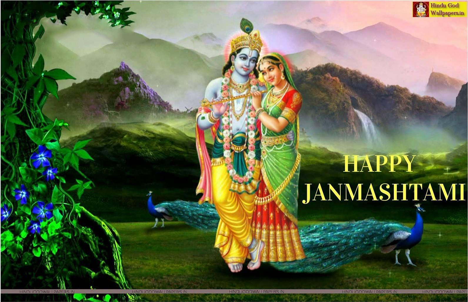 Sri krishna jayanti wallpaper - Free Download Unique Sri Krishna Janmashtami Wallpapers Krishnashtami God Images Hindu God Wallpapers