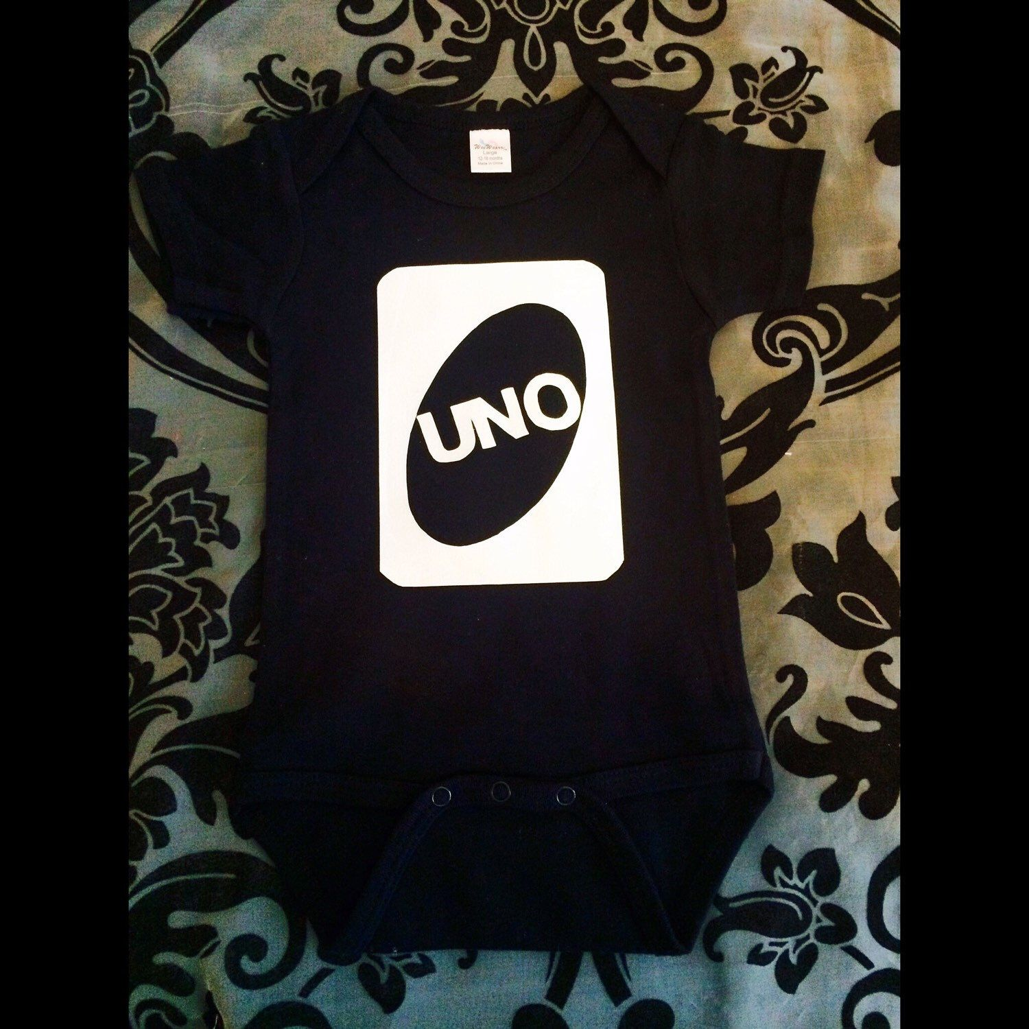 A personal favorite from my Etsy shop https://www.etsy.com/listing/238800741/uno-1st-birthday-onesie