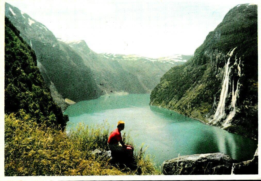 Møre og Romsdal fylke Stranda kommune Geirangerfjorden brukt 1962 Utg Normann