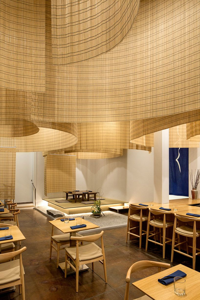 Kengo Kuma fills Portland restaurant with delicate bamboo screens - Curbedclockmenumore-arrow : Rather ethereal