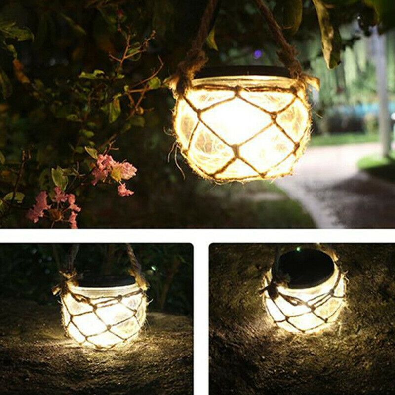Hanging Solar Powered Tree Branches LED Light Outdoor Garden Yard Lamp Balcony