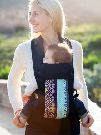30ede3c8703 New from Beco - love the hodgpodge print! Carry Me Away    Luca Beco Gemini  Baby Carrier Sling