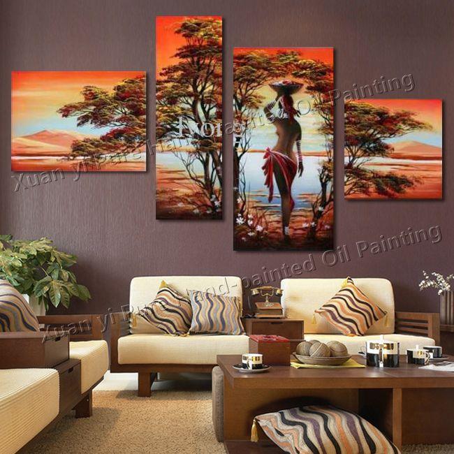 cuadros grandes para el living cuadros decoracion de On decoracion de salas grandes