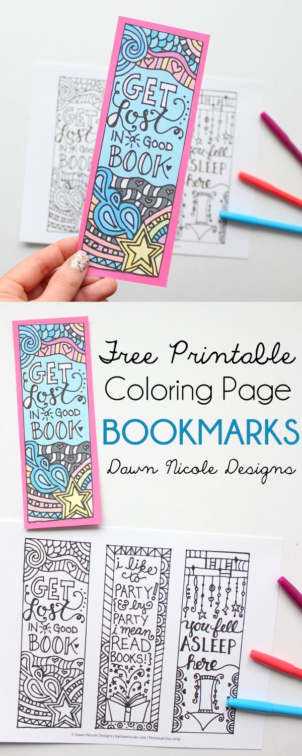 free printable coloring page bookmarks free printable bookmarks