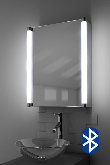 Aziza Demister Bathroom Cabinet With Bluetooth Audio Bathroom Mirror Mirror Cabinets Bathroom Mirror Cabinet