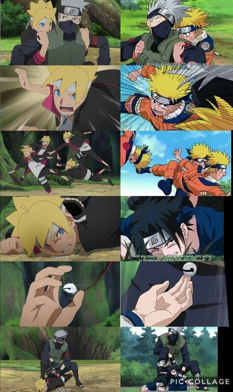 boruto vs kakashi same fight as naruto and sasuke had with him