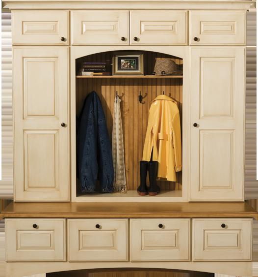 entryway+bench+with+cabinet | Locker Cabinets & Mudroom Storage | Mudroom Lockers | Dura Supreme