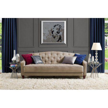 Novogratz Vintage Tufted Sofa Sleeper Ii Multiple Colors Walmart Com Tufted Sofa Sleeper Sofa Lounge Furniture