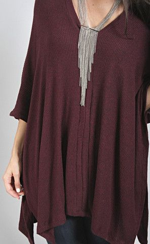 super comfy top to slip on over skinnies, leggings, you name it.